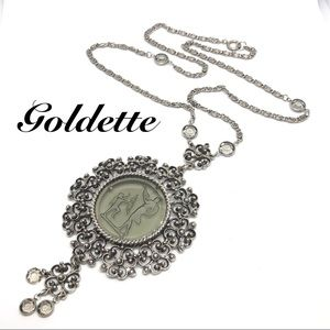 🆕Vintage Goldette Cupid & Venus Cameo Necklace